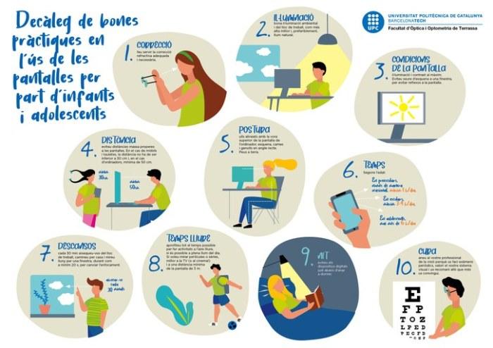 recomanacions salut visual i ús de pantalles